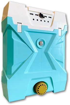 AQUENEOUSは室内で安全に使える水発電機です